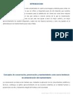 Conceptos de Conservación, Preservación y Mantenimiento Como Nueva Tendencia de Administración Del Mantenimiento