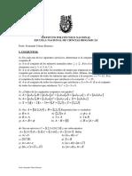 Cálculo Diferencial e Int. LISTA1.Abril 2015
