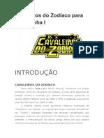 Cavaleiros Do Zodíaco Para 3d&t Alpha