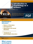Lecture 11.1 - Psychological Disorders(1)