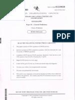 CSEC Geography 2012 Paper 2