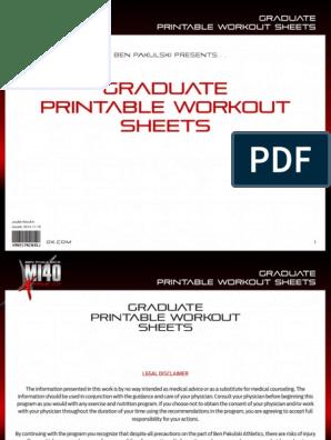 graphic about Printable Workouts Pdf identify MI40-X - Training Sheets - 2. Graduate (intermediate).pdf