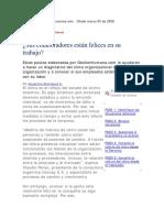 Articulo. Manual Para Medir El Clima Laboral