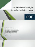 Transferencia de Energía Por Calor, Trabajo y Masa