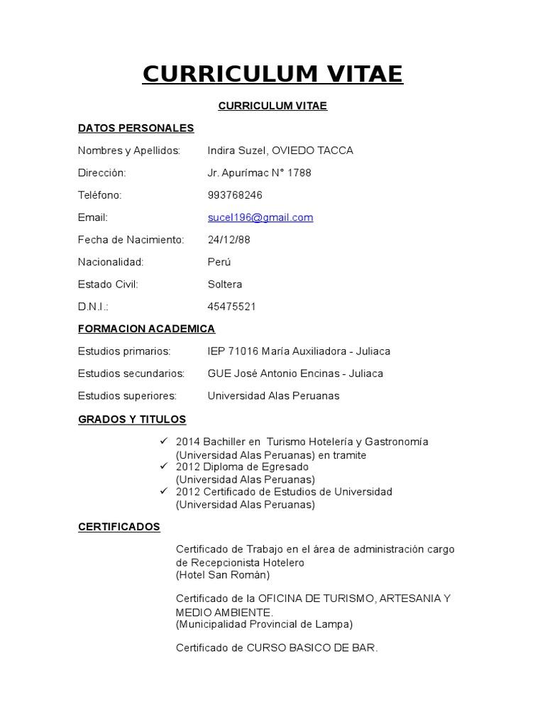 Dorable Objetivos Para Currículums Para Recepcionista Adorno ...