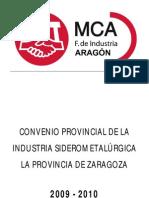 Convenio Metal Zaragoza 2009-2010