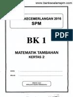 Kertas Peperiksaa Trengganu BK ADD Maths 2016