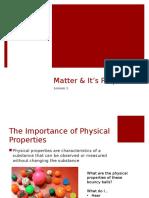Building Blocks of Matter- Chapter 1