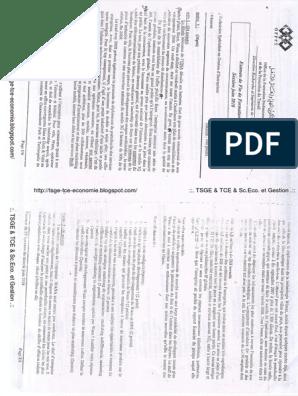 EXAMEN FORMATION TSGE DE TÉLÉCHARGER FIN DE