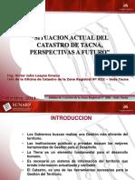 Situación Actual Del Catastro de Tacna - Victor Loayza