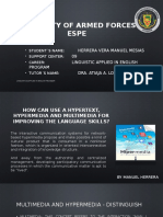 How Can Use a Hypertext, Hypermedia and Multimedia for Improving the Language Skills