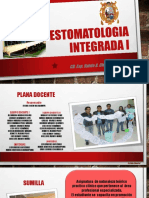 prsentacion de la asignatura estomatologia integrada i
