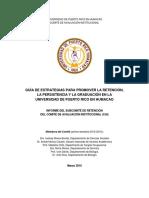 Guia Para Promover Retencion-persistencia-graduacion en la Universidad de Puerto Rico en Humacao