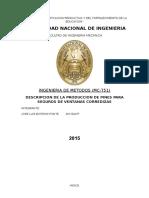 Monografia de Metodos-2015-Descripcion de La Produccion de Pines Para Seguros de Ventanas Corredizas (por completar)
