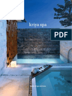 Kriya Spa Menus at Grand Hyatt Bali