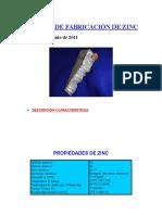 Proceso de Fabricación de Zinc