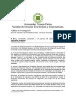 El Perú y El Proceso de Apertura Económica e Integración Comercial, Mirando Hacia El Asia (1)