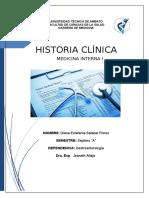 HISTORIA CLÍNICA SOBRE GASTROENTEROLOGIA