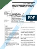 NBR 8433 - Veiculos Rodoviarios Automotores Em Aceleracao - Determinacao Do