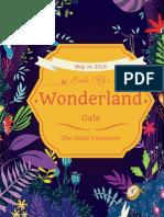 wonderland gala catalogue