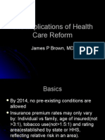 The Implications of Health Care Reform
