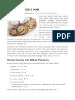 Proses Pembuatan Sosis Ikan
