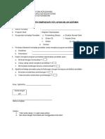 Form Rekomendasi Kelayakan Akademik