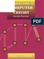 Introduction to Computer Theory by Daniel I. a. Cohen - Second Edition