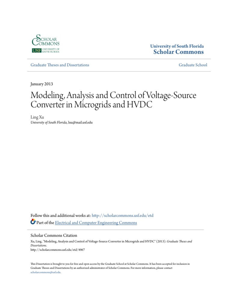 Modeling Analysis And Control Of Voltage Source Converter In Mic 138 Volt 20 A Transformerless Power Supply Circuit Diagram Electronics Distributed Generation