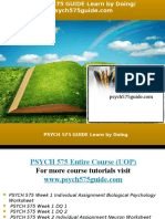 PSYCH 575 GUIDE Learn by Doing/psych575guide.com