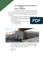 Informe de Salida Acampo en El Curso de Mecánica de Suelos II