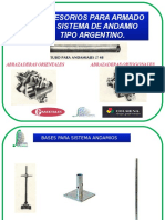 ACCESORIOS PARA ARMADO  DE SISTEMA DE ANDAMIO  TIPO ARGENTINO