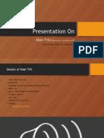 Presentation on Tvc
