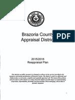 Brazoria cad reappraisal plan 2015-2016