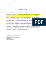 Carta Poder Notarial