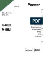 Manual Radio Pioneer Fh-555ui (Eng-por-esp)