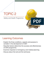 Topic 2 - Safety and Health Programme