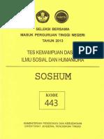 Naskah Soal SBMPTN 2013 Tes Kemampuan Dasar Ilmu Sosial dan Humaniora (TKD Soshum) Kode Soal 443 by [pak-anang.blogspot.com].pdf