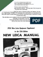 Leica m3 User Manual