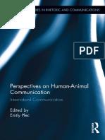 Perspective on Human-Animal Communication