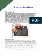 3 Cara Mudah Merawat Baterai Laptop