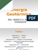 energia GEOTÉRMICA diapositivas