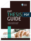 Thesis Guideline Procedures