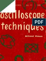 Oscilloscope Techniques - Alfred Haas - 1958