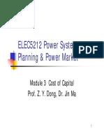 Elec5212 Module3 Cost of Capital(1)