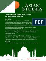 Asian Studies Vol 49 No 2 - 2013