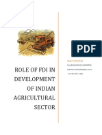 Role of FDI in Development of Indian Agricultural Sector