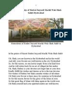 Hadrat Sayyadi Machli Wale Shah Sahib