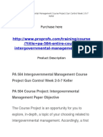 PA 584 Intergovernmental Management Course Project Gun Control Week 2-5-7 Keller