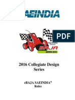 2016 EBaja SAE India Rules